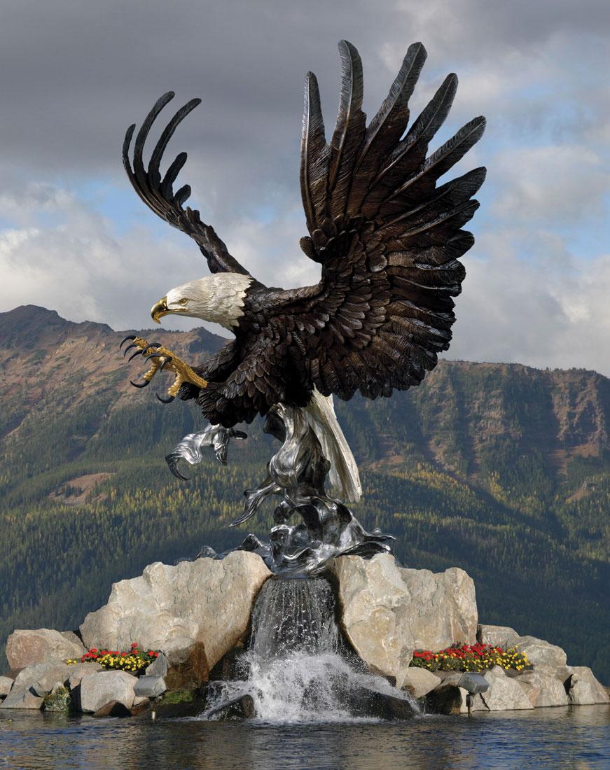 Attack Eagle Monument Fountain - John Brennan
