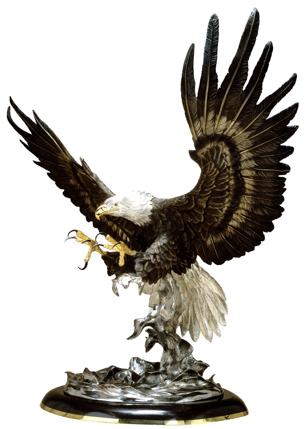 Attack Bronze Eagle Statue
