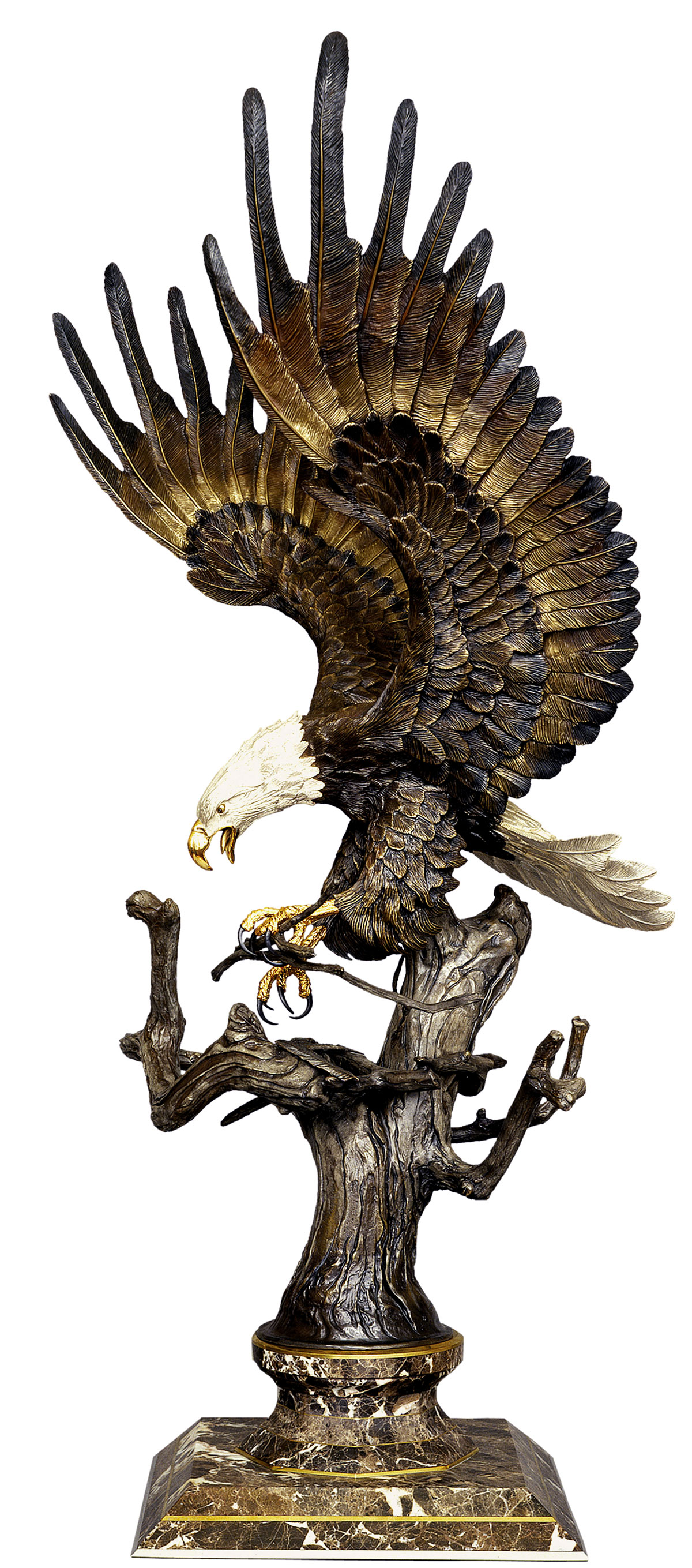 Building for the Future - Bronze Eagle Sculpture