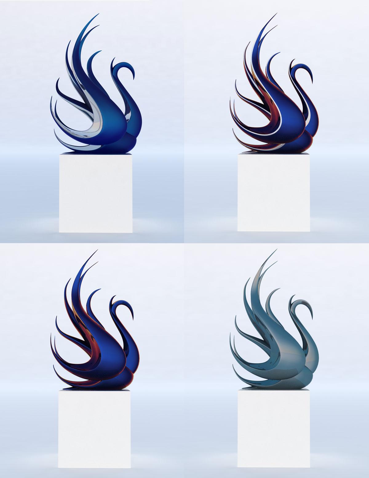 Swan Modern Sculpture - Contemporary Public Art