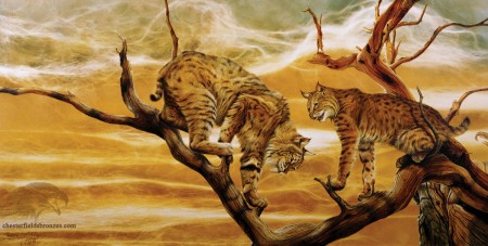 Copy-Cats-Lynx-Bobcat-Wildlife-Art-Painting-Chester-Fields