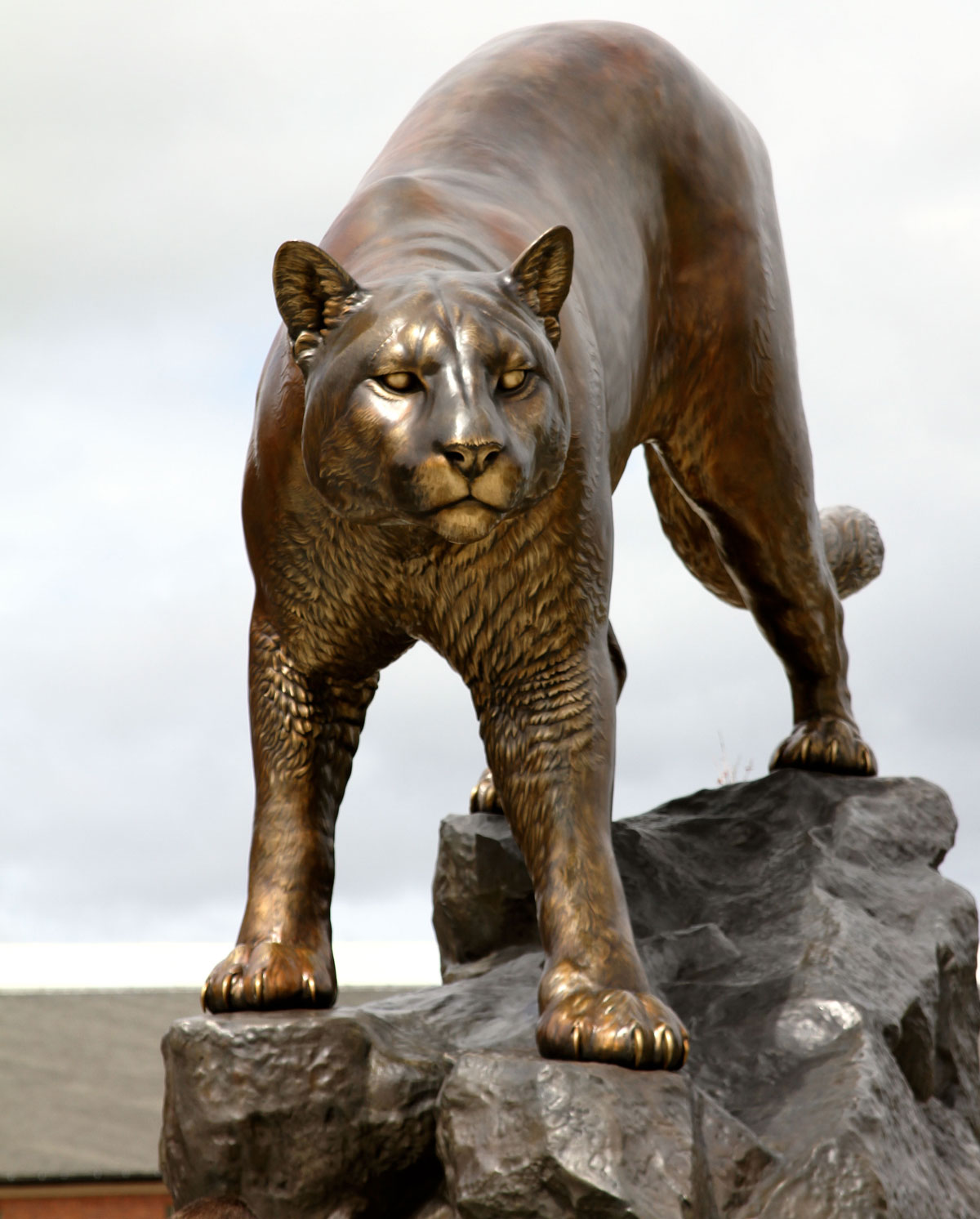 Washington State University Cougar Mascot Monument
