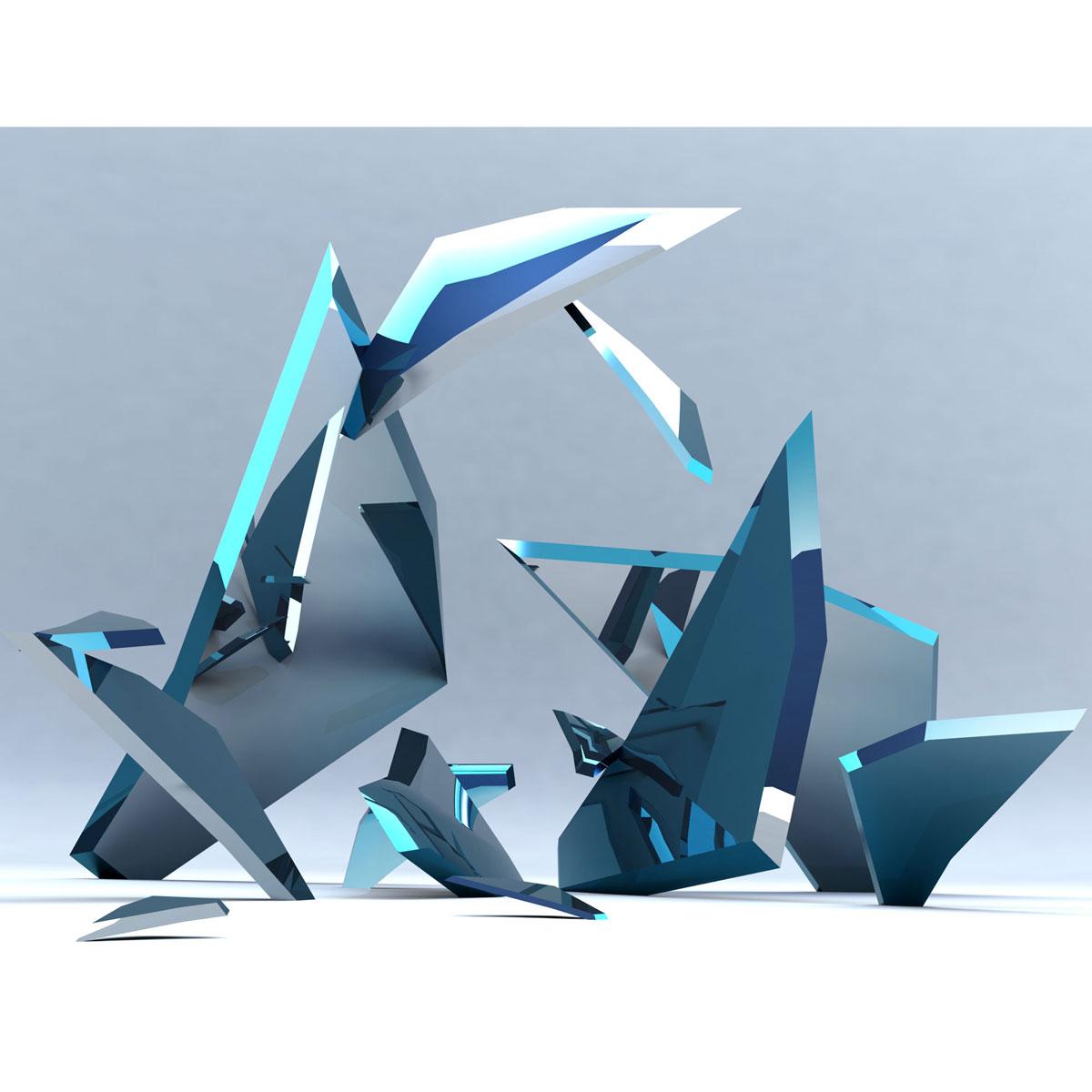 """fracture""""  modern sculpture – public art  chester fields bronzes  - fracture modern sculpture  contemporary public art"""