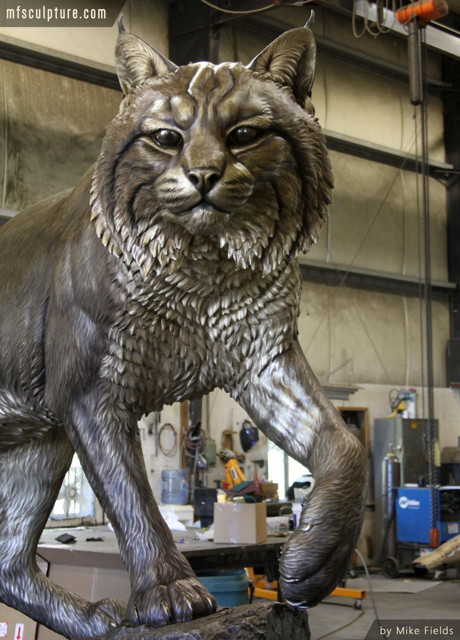 Wildcat University Mascot Monument