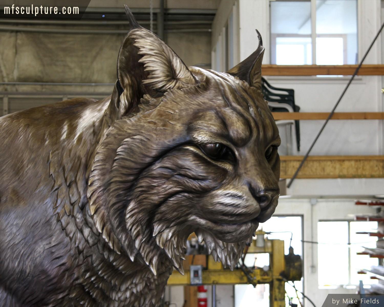 Bobcat University Mascot Sculpture