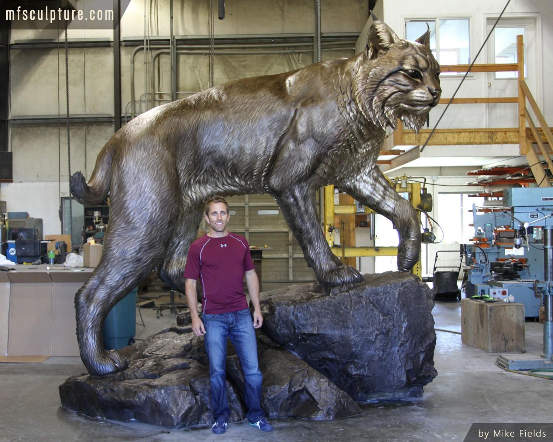 Wildcat University Mascot Sculpture