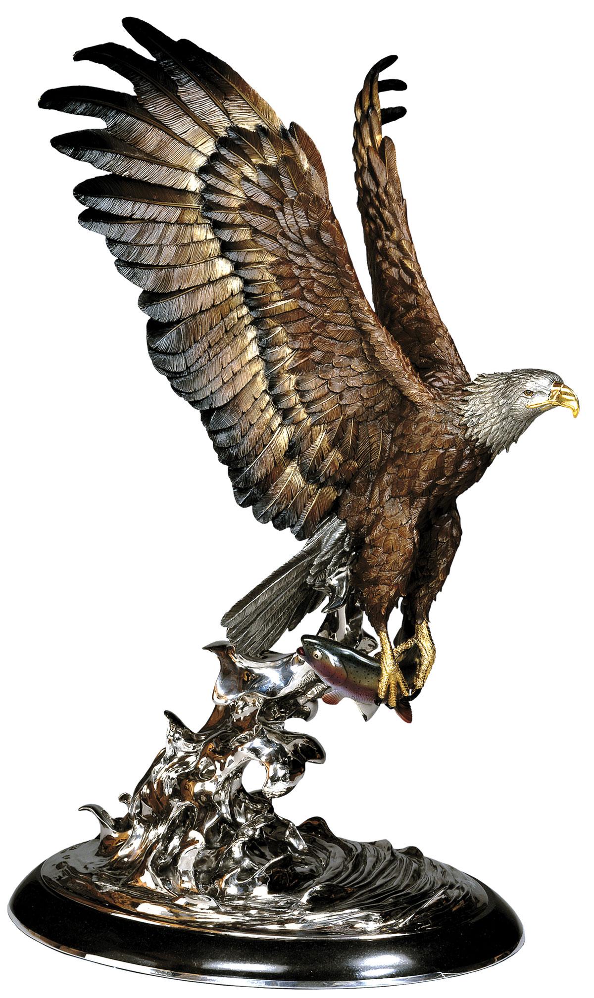 Lift-Off Eagle Sculpture