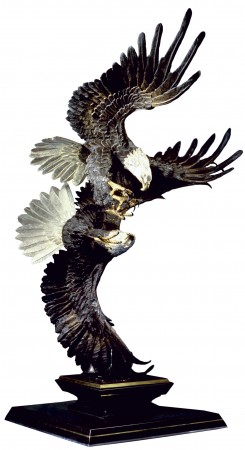 Majestic-Courtship-Eagle-Sculpture