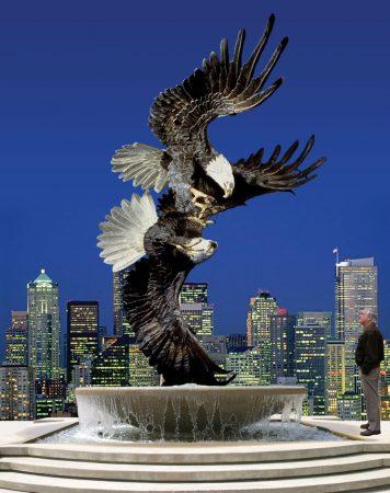 Majestic-Courtship-Eagle-Sculpture-Monument