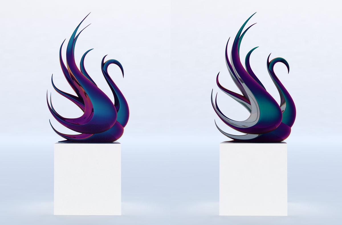 Modern-Swan-Sculpture-Bronze-Steel