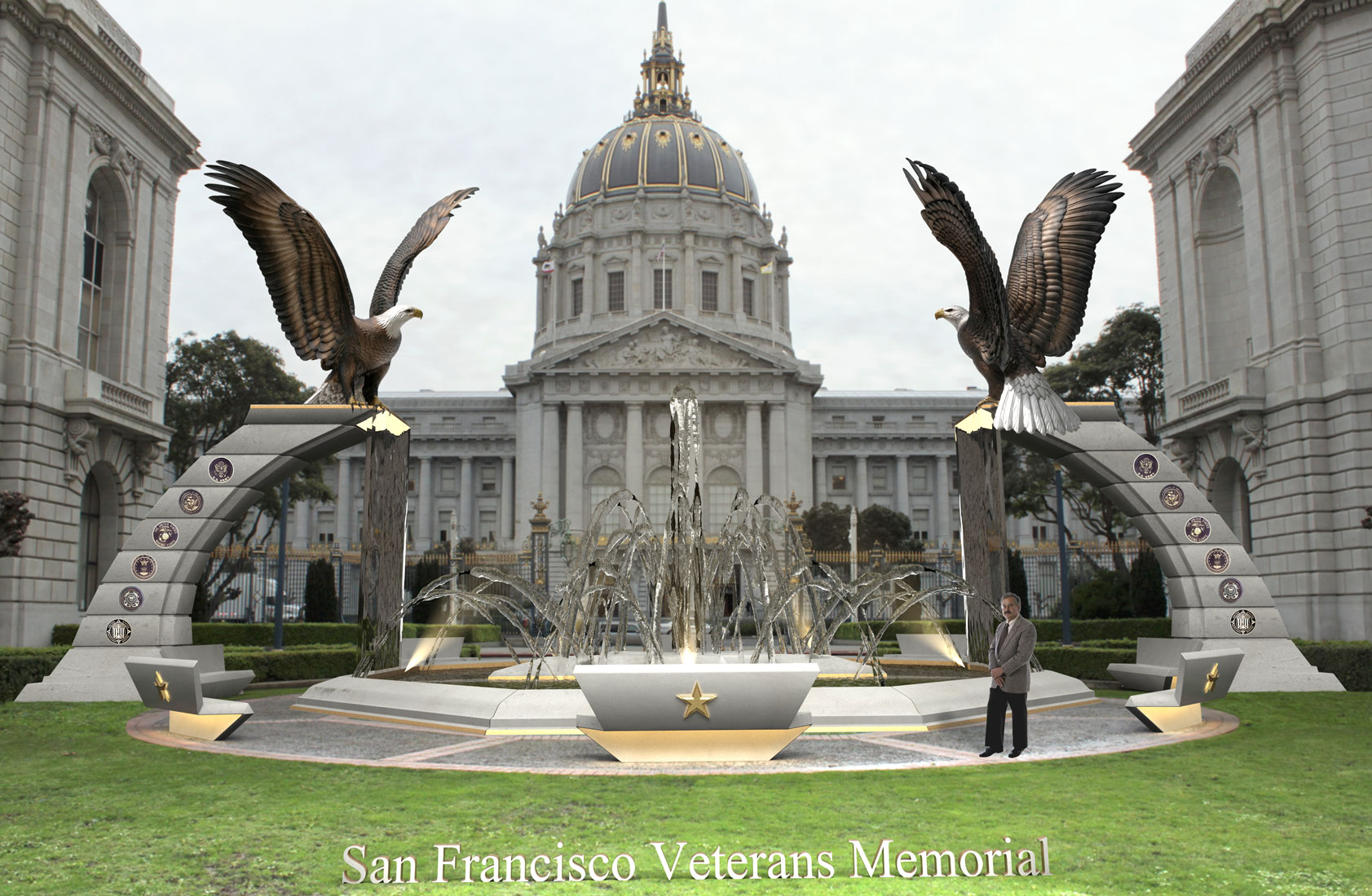 Sentinels | Eagle Monument San Fransisco Veterans Memorial Proposal