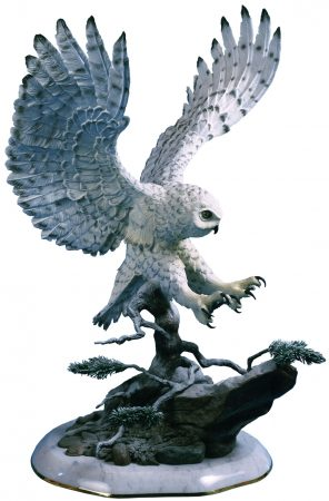 Snow-Owl-Bronze-Owl-Sculpture