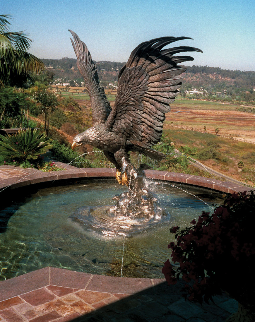 Splashdown Eagle Monument Fountain Private Home San Anita