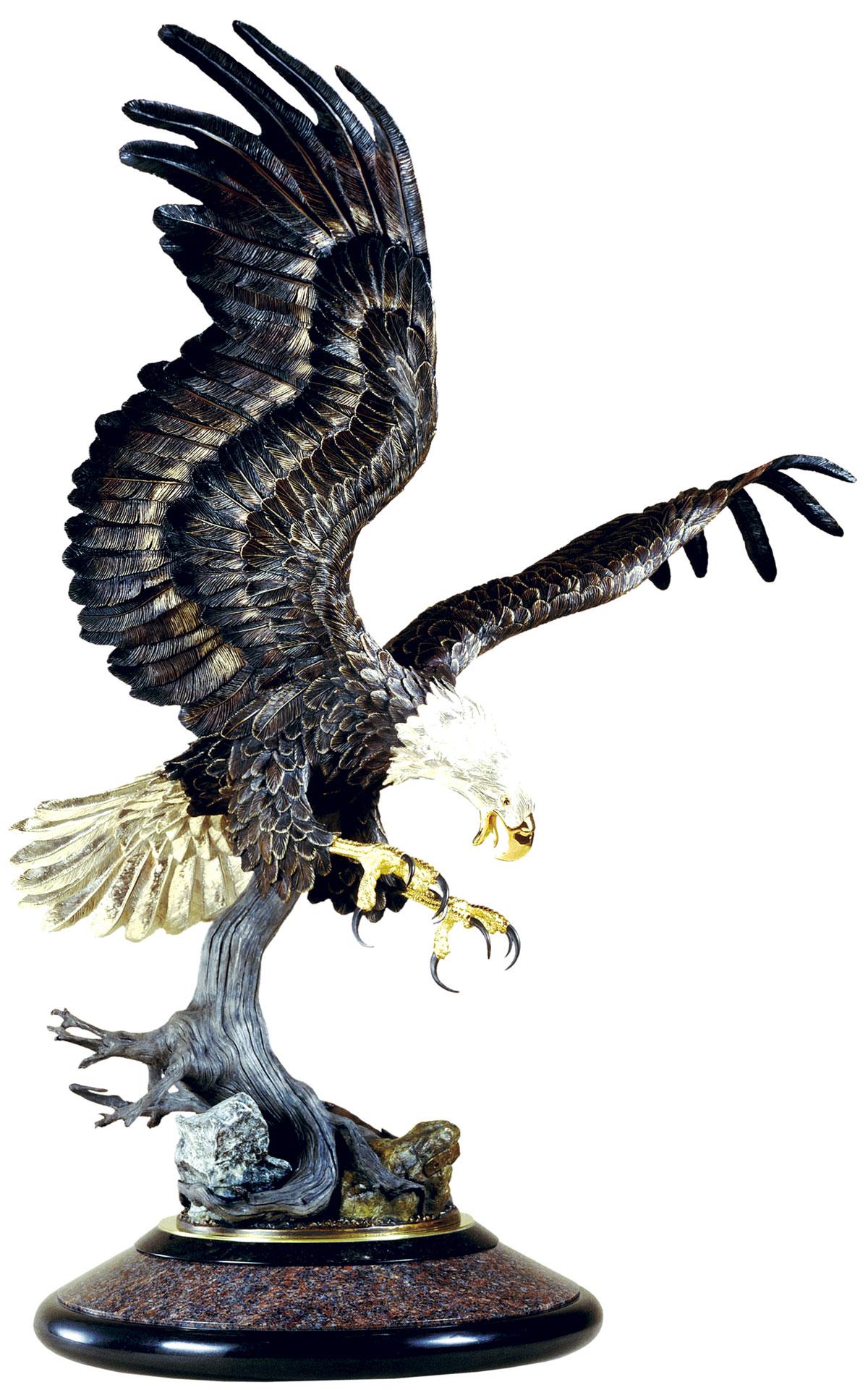Custom Thunderbird Bronze Eagle Sculpture
