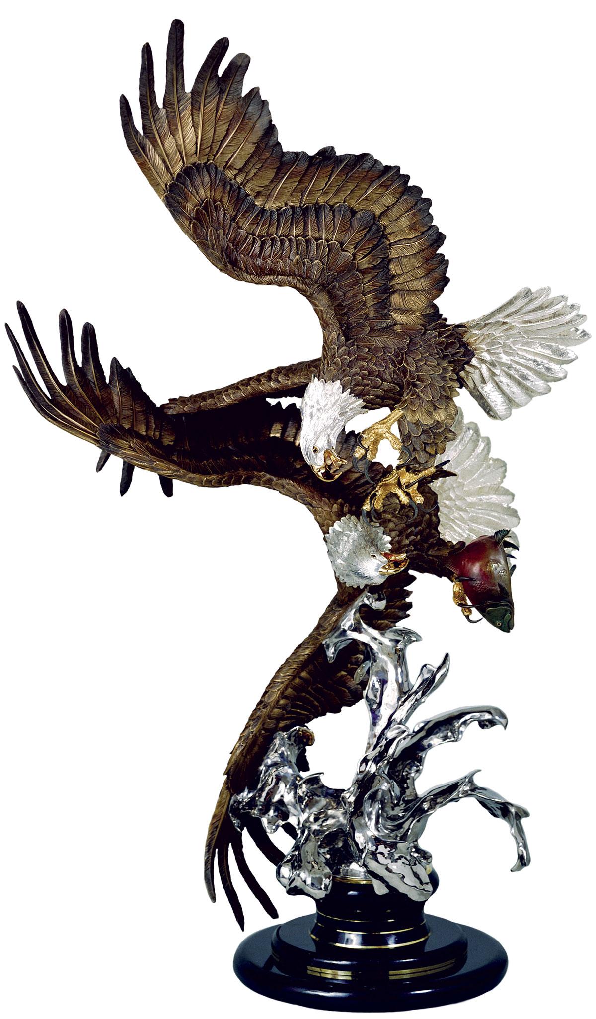 Where Eagles Dare Bronze Eagle Sculpture