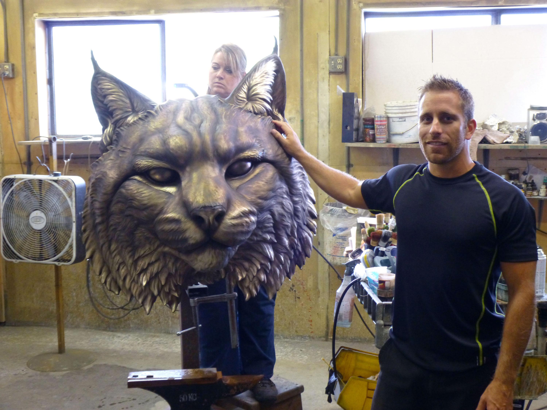 Johnson & Wales University Mascot Sculpture