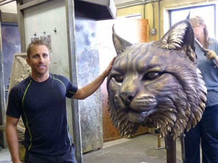 Wildcat-University-Mascot-Sculpture